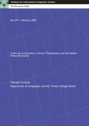 IIIS Discussion Paper No. 279 - Trinity College Dublin