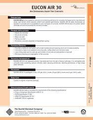 Eucon Air 30 Technical Data Sheet - Euclid Chemical Co