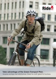 Take advantage of the Green Transport Plan. - Evans Cycles