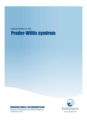 Prader-Willis syndrom - Ågrenska