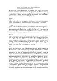 Jacques le Fataliste et son maître, Denis Diderot. Ce roman est ...