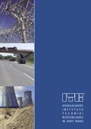 Działalność ITB (.pdf) - Instytut Techniki Budowlanej