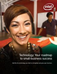 Technology: Your roadmap to small-business success - Intel
