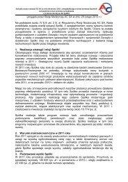 (przyjęta przez Radę Nadzorczą AC SA w dniu 28 lutego 2012 r.) Na ...
