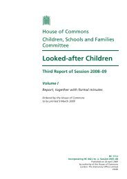 Looked-after Children - United Kingdom Parliament