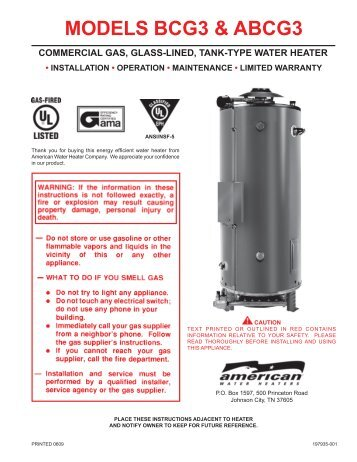 American water heater manual wiring library bcg nox parts list news from american water heaters rh yumpu com american water heater specs american water heater powerflex manual ccuart Image collections