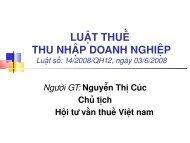 LUẬT THUẾ THU NHẬP DOANH NGHIỆP - Đại học Duy Tân