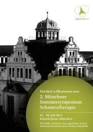 2. Münchner Sommersymposium Schmerztherapie - Algesiologikum
