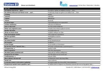 Station B1 - Arbeitsbuch Glossar.pdf - Praxis