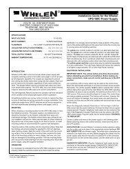 13265: UPS-188C Power Supply - Whelen Engineering