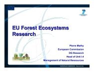 EU Forest Ecosystems Research - PolSCA
