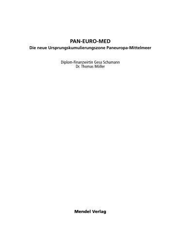 Demo PAN-EURO-MED - Die neue Ursprungskumulierungszone ...