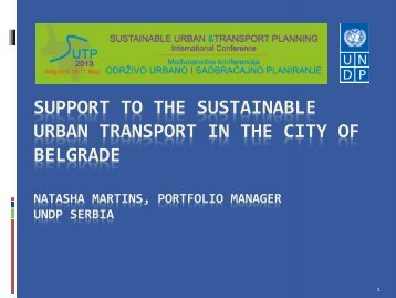 support to the sustainable urban transport in the city of belgrade