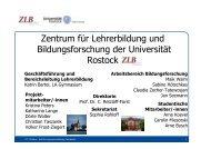 Präsentation zur Einführungsveranstaltung (ZLB) - Zentrum für ...