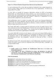 Sujet n° 6 - Prise de fonction d'un proviseur dans un lycée ... - Esen