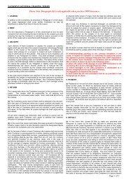 Trading terms - Tankspan Leasing Ltd