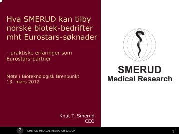 SMERUD Medical Research Group a full-service phase II-IV CRO for ...