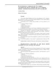 259 Învăţământul farmaceutIc În cadrul unIversItăţII ... - Clujul Medical