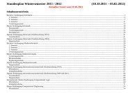 Stundenplan Wintersemester 2011 / 2012 - Faculty of Computer ...