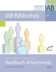 Handbuch Arbeitsmarkt 2013 - W. Bertelsmann Verlag