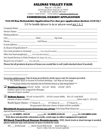 Vendor application for the trash to treasure green craft for Craft fair application template