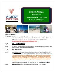 South Africa #2 - Victory Sports Tours