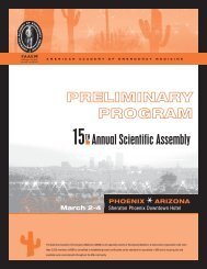 15th Annual Scientific Assembly - AAEM