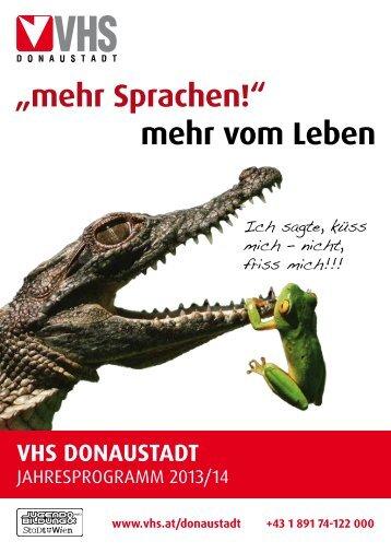 """""""mehr Sprachen!"""" mehr vom Leben - VHS Wien"""