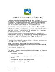 1 Dairy sheep 2012 v4 Animal Welfare Approved Standards for ...
