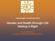 Gender in Health Promotion