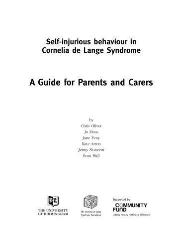 A Guide for Parents and Carers - The Cornelia de Lange Syndrome ...
