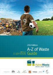 A-Z of Waste Guide - Halve Waste