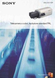 Telecamera a colori, risoluzione standard PAL - Sony
