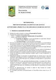 Metodologia privind susţinerea examenului de licenţă şi elaborarea ...