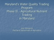 Maryland's Water Quality Trading Program