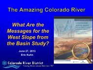 What are the Messages for the West Slope from the Basin Study