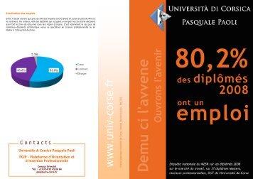 Télécharger la plaquette - Università di Corsica Pasquale Paoli