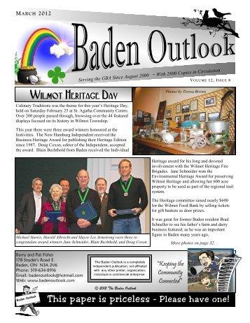 Wilmot Heritage Day - The Baden Outlook