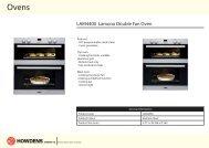 LAM4400 Lamona Double Fan Oven