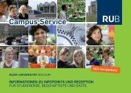 campus service - der Verwaltung - Ruhr-Universität Bochum
