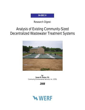 Analysis of Existing Community-Sized Decentralized Wastewater ...