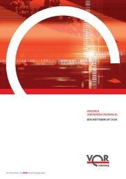 vorsorge lebensversicherung ag geschäftsbericht 2009 - Anbieter