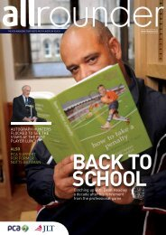 December 2010 Allrounder - The Professional Cricketers' Association