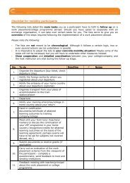 Checkliste für entsendende Organisationen - Pro Mobility