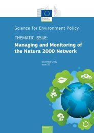 Managing and Monitoring of the Natura 2000 Network