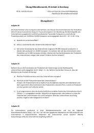 Übungsblatt 7 - Fakultät für Wirtschaftswissenschaft - Otto-von ...