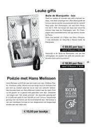 Leuke gifts Poëzie met Hans Melissen - Pasteuning
