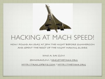 HACKING AT MACH SPEED! - Reverse Engineering Mac OS X