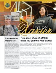Two-sport student-athlete takes her game to Med School - Xavier ...