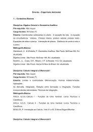 Ementa – Engenharia Ambiental 1 – Conteúdos Básicos ... - IFBA